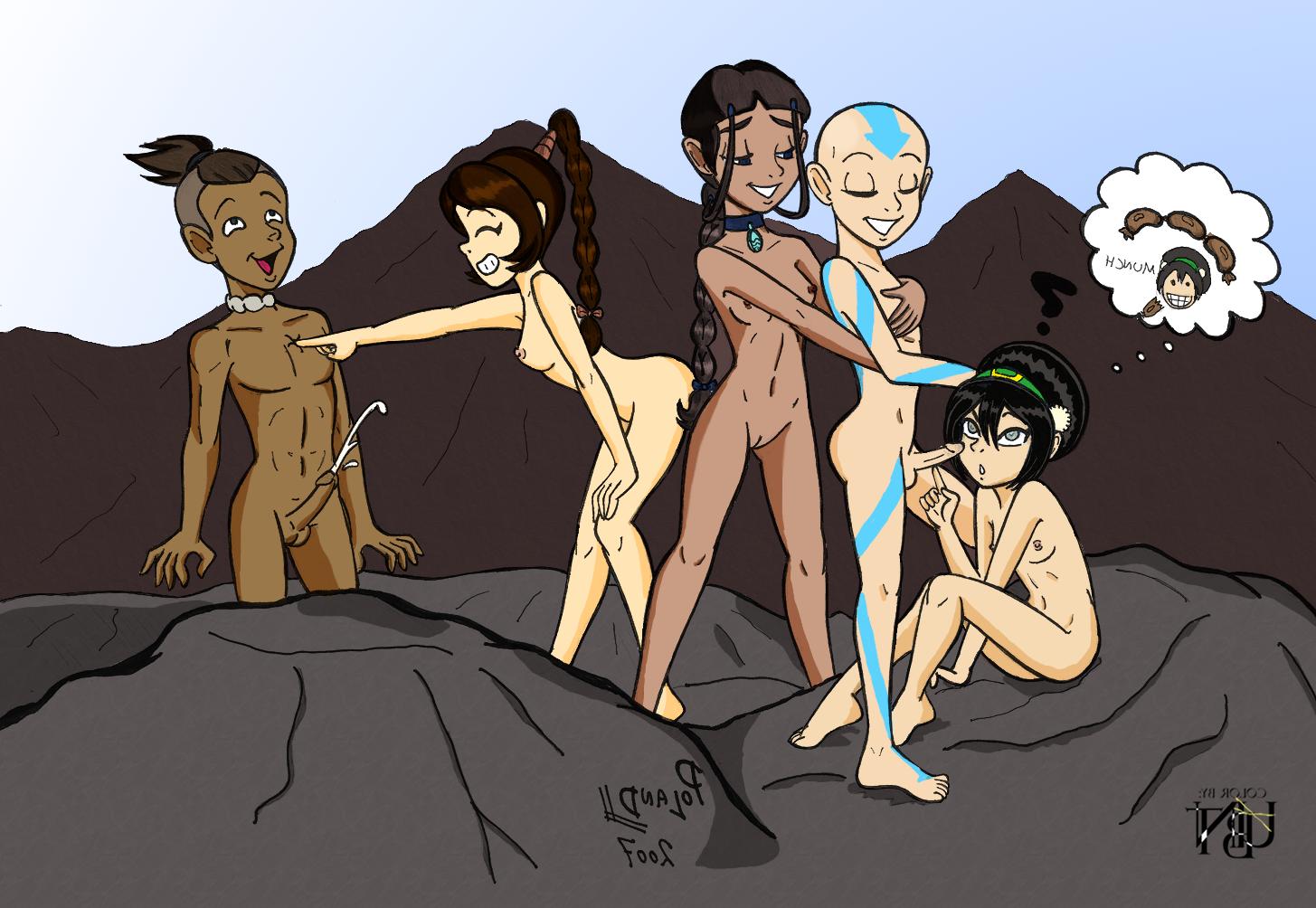 Avatar last airbender katara toph nude
